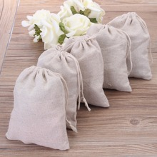 100pcs Small Linen Drawstring Gift Bags 8x10cm (3″x4″) Wedding Party chocolate Favor Holder Cotton Mulin Jewelry Packaing Pouch