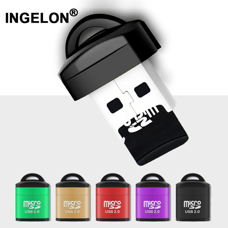 Ingelon Hot Sale Card Reader TF Memory Card Adapter Plus DJ&8gb microSD Card Cardreader for Vehicle and audio mini Smart Reader