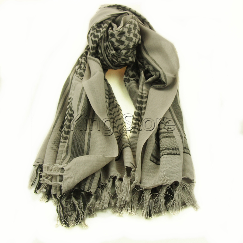 1//6th Scale 100/% Cotton Military Shemagh Tactical Desert Keffiyeh Scarf Wrap