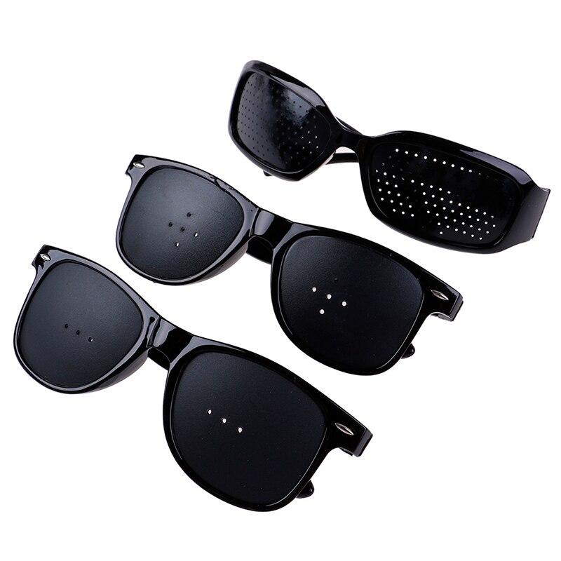 3Styles Unisex Vision Care Pin Hole Eyeglasses Pinhole Glasses Eye Exercise Eyesight Improve Plastic Natural Healing Cheap