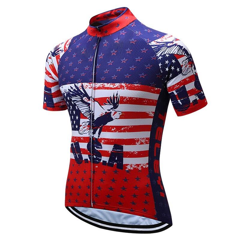 2018 Herren USA Reiten MTB Team Radtrikot Outdoor Bicicleta Kurzarm - Radfahren - Foto 5