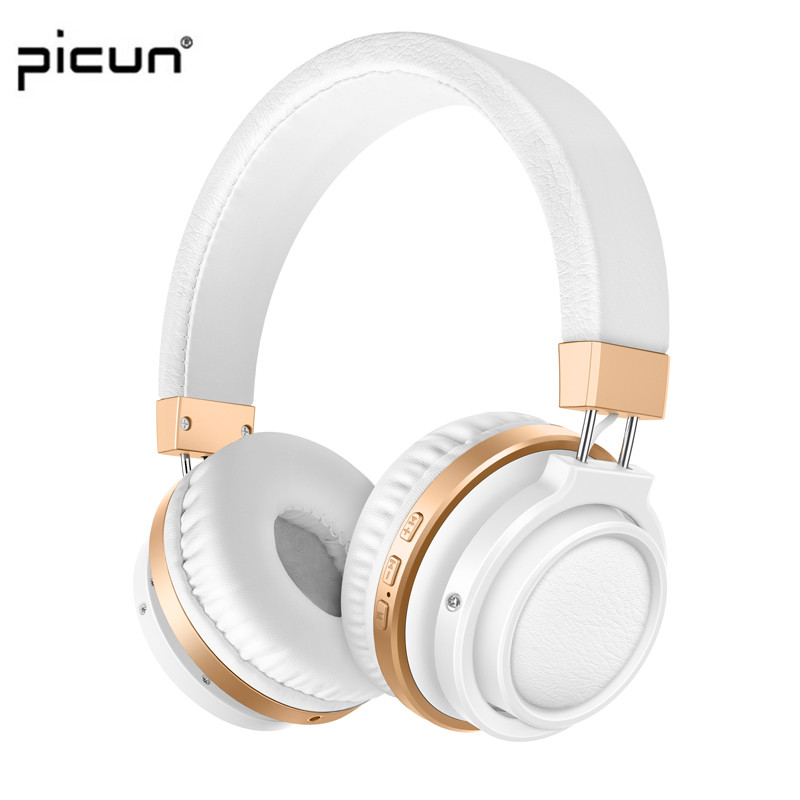 Picun P3 Bluetooth Headphone With Mic. Support TF Card MP3 Wireless Earphone Stereo HiFi Music Headset For iPhone For Gaming sports wireless bluetooth stereo headset with fm tf card mp3 music player headphone