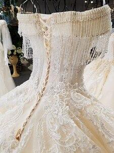 Image 5 - AIJINGYU белое платье для помолвки великолепный винтажный наряд с кисточками для беременных простые сексуальные платья для свадьбы тюлевые свадебные платья