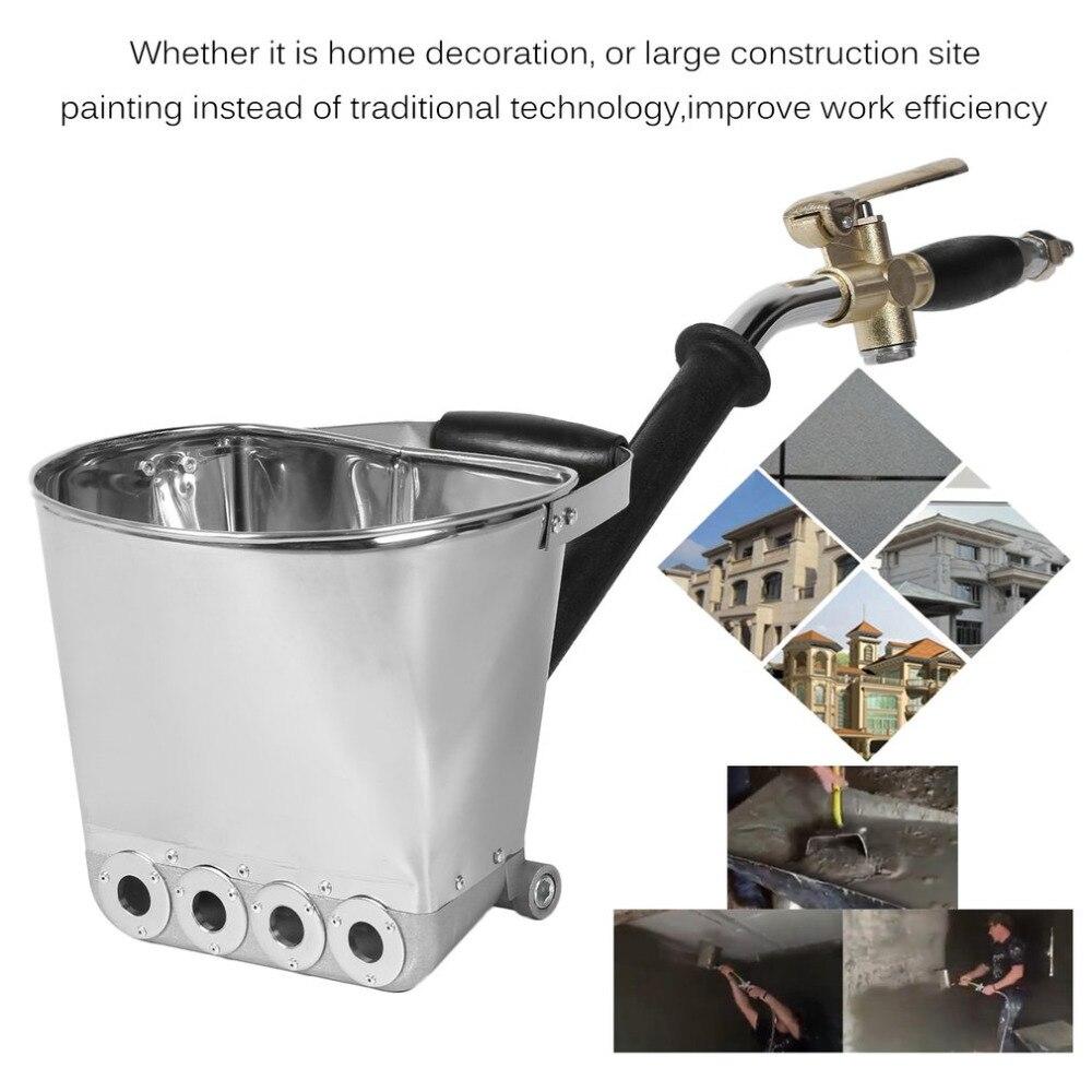 купить Wall Mortar Sprayer Gun Stucco Shovel Hopper Ladle Cement Spray Gun Air Stucco Sprayer Plaster Hopper With Handle онлайн