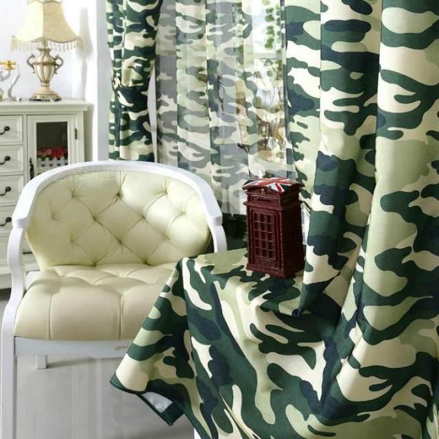 Online Shop Aangepaste Camouflage Gordijnen Woonkamer Gordijnen ...