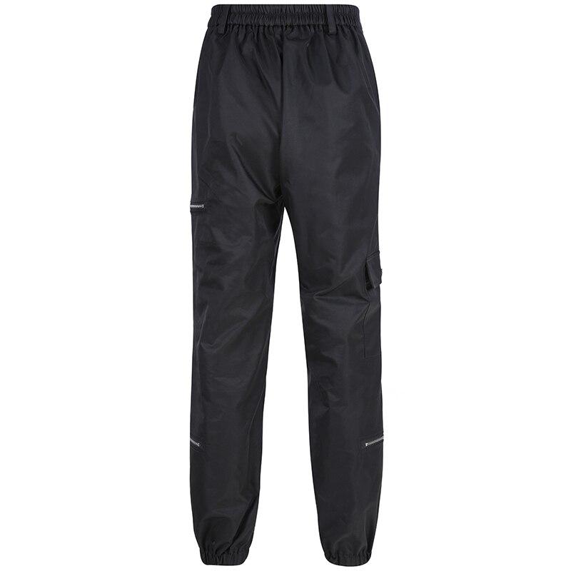 Princess 送料無料 黒ポケットジッパーオープンヒップホップハイウエストのズボン 2019