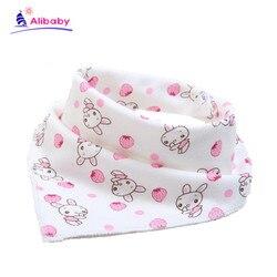 1Pcs Double Layers Cotton Baby Bibs Baby Bandana Bibs Burp Cloths Newborn Triangle Scarf character Animal Towel Stuff  babador