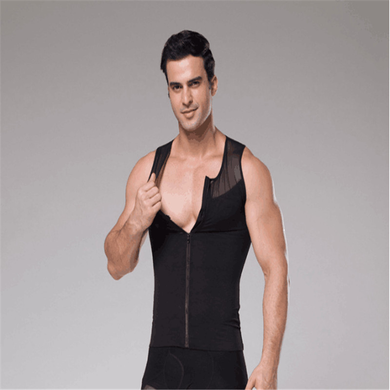 25e1daca7a Detail Feedback Questions about Gynecomastia Slimming Boobs Shapers Men  Zipper Slimming Abdomen Control Corset Big Belly Tummy Trimmer Compression  Vest on ...