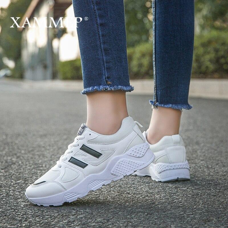 Women Casual Shoes Women Sneakers Brand Women Shoes Ladies Trainers Platform Shoes Plus Big Size PU Spring Autumn Xammep