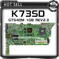 K73SV K73SM X73S K73S Notebook Motherboard For ASUS K73SD REV2 3 HM65 17 3 HD