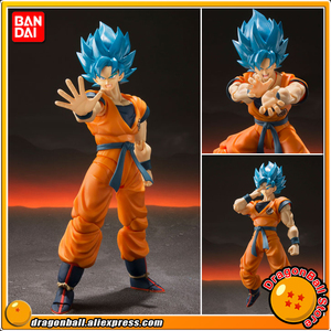 """Dragon Ball Super Broly"" Original BANDAI SPIRITS Tamashii Nations S.H.Figuarts SHF Action Figure - Super Saiyan God SS Son Goku(China)"