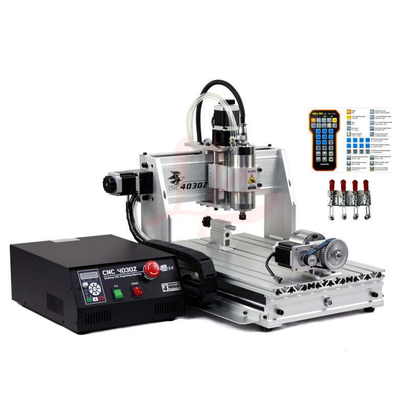 CNC Router 60X40cm Engraver YOOCNC Drilling and Milling 40*60 800W ball screw engrvaing Machine with USB port ball screw 4 axis cnc machine cnc 3040f drilling and milling engraver machine wood router with square line rail and wireless handwheel