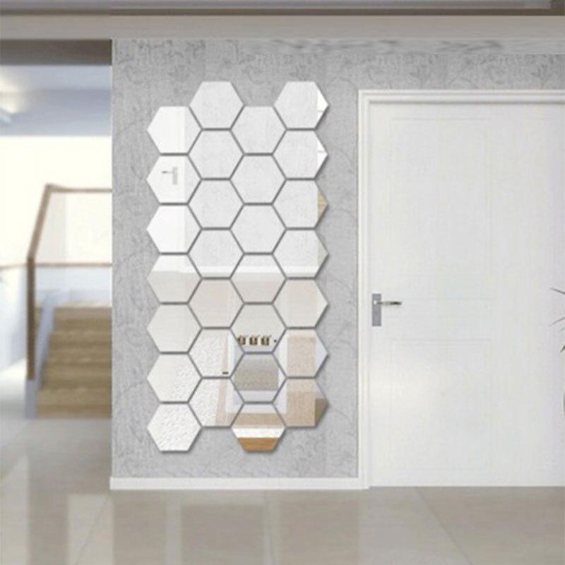 Three dimensional hexagonal 7 piece wall decoration for Objet mural deco