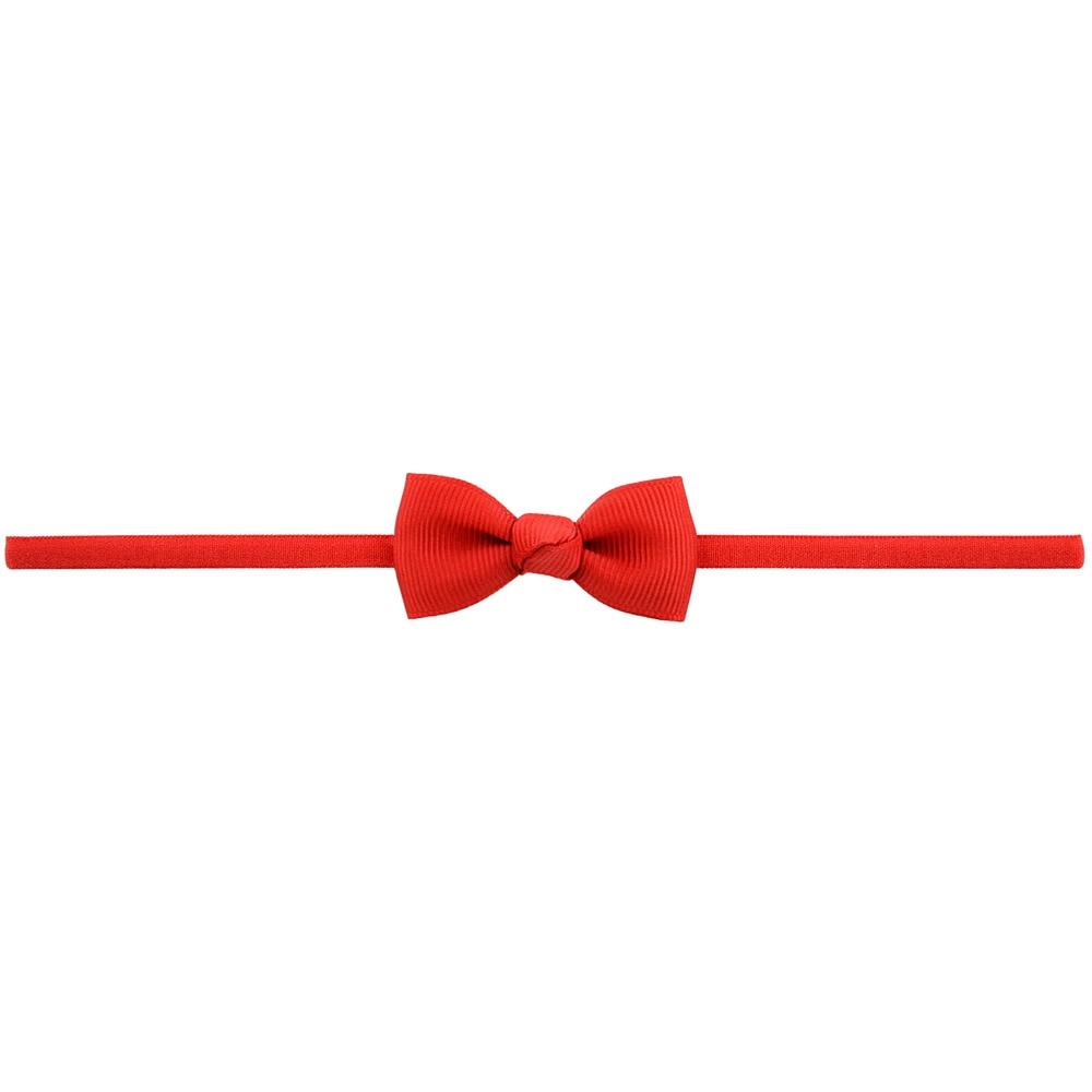 Повязка на голову для маленьких девочек; аксессуары для волос для младенцев; тканевый галстук с бантом; головной убор; Тиара; подарок для малышей; повязка на голову с лентой для новорожденных - Цвет: 12