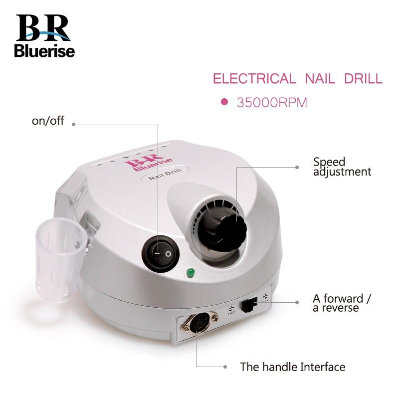 Électrique Nail Forage Machine Manucure Pédicure Ensemble 35000 rpm Nail Art Matériel Accessoire Nail Forets Pied Pédale Poignée Stand - 2