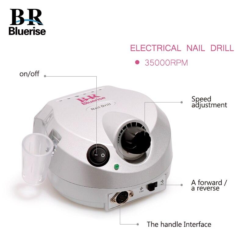 Máquina de taladro eléctrico manicura pedicura 35000 RPM equipo del ...