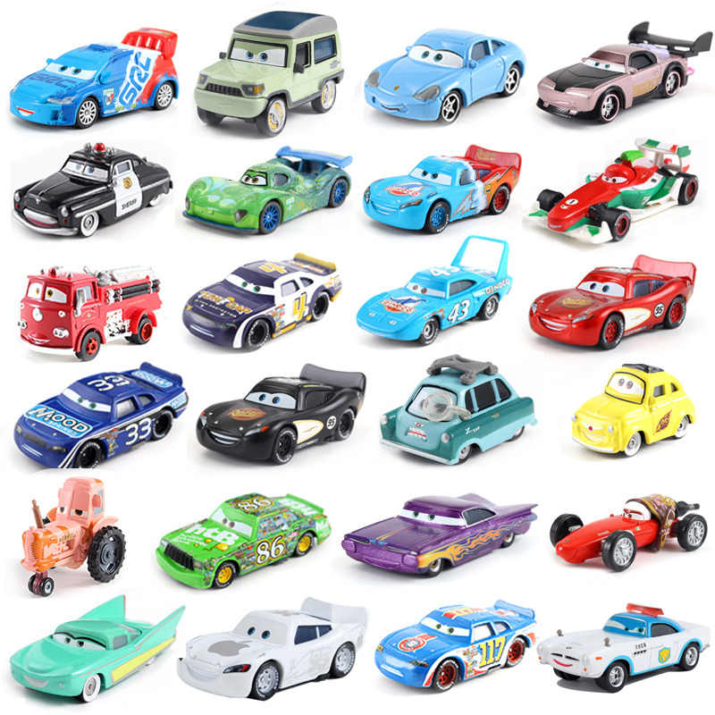 Cars Disney Pixar Cars Mack Lightning McQueen & Chick Hicks & King & Fabulous Hudson Truck Toy Car Loose New Free Shipping