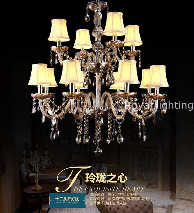 Crystal Chandeliers For A Luxury Hotel In Italy: Italian Large Antique Crystal Chandelier Led Lamps Villa