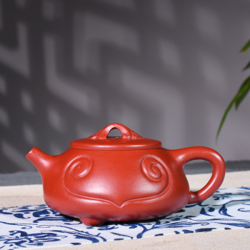 Yixing Purple Sand Pot Famous Artisans Hand-made High-quality Raw Mine Dahongpao Ruyi Stone Pot Kungfu Teapot Tea Set