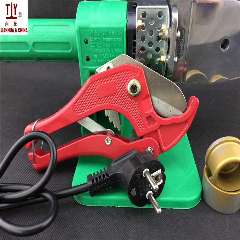 Free Shipping Automatic Heating 20-32mm plastic melting machine with a pipe cutter plastic pipe welding pprTube welding machine