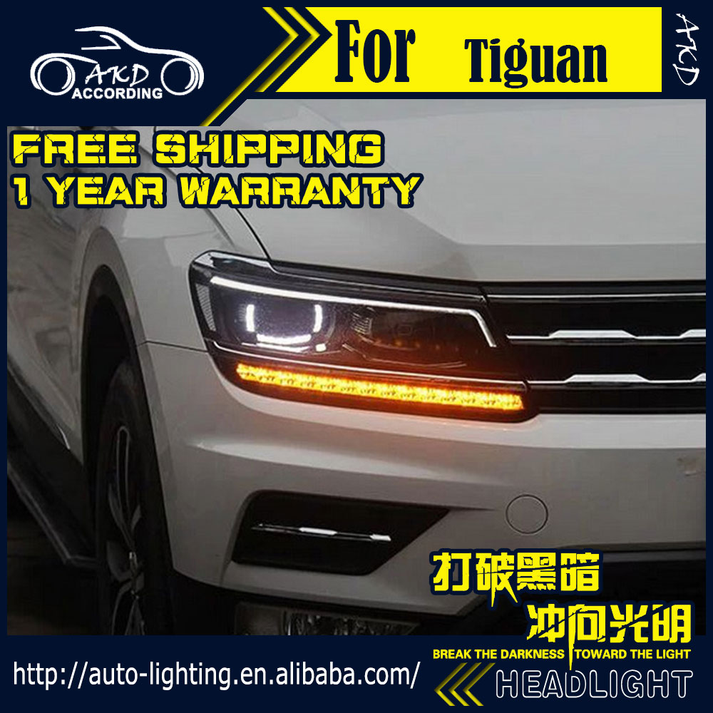 Car-Styling-Headlight-Assembly Tiguan Front-Lamp-Accessories Xenon for VW Bi LED DRL