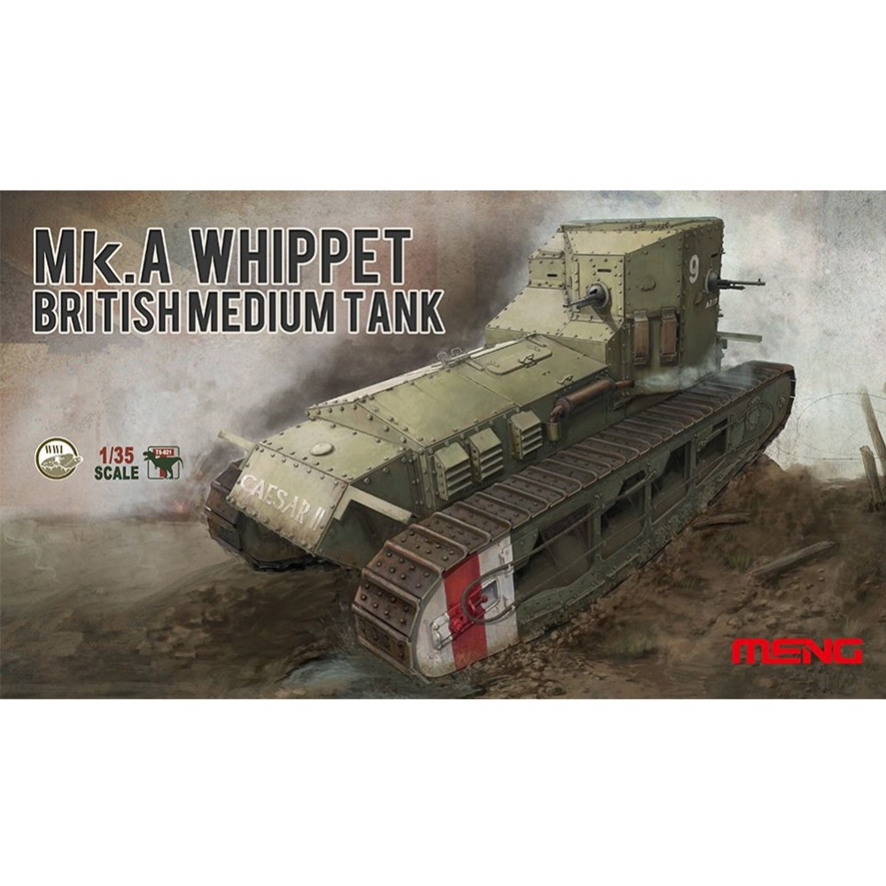 OHS Meng TS021 1/35 British MkA Whippet Medium Tank Scale Military AFV Assembly Model Building Kits oh ohs meng ts028 1 35 russian t 72b3 main battle tank assembly scale afv model building kits