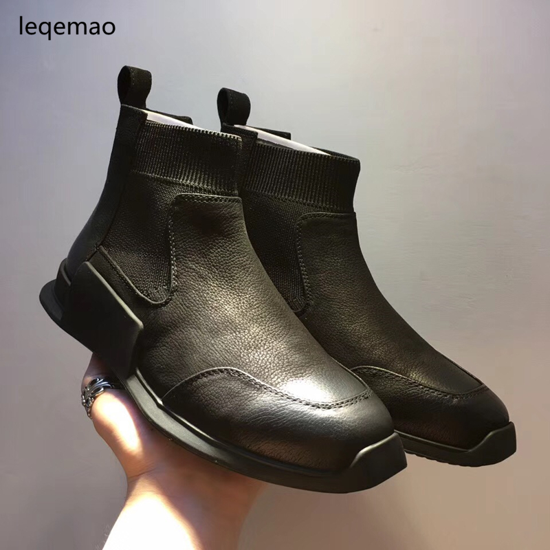 Sales New Fashion Luxury Men Basic Black Winter Warm Sneakers High-Top Nuduck Genuine Leather Brand Trainers Flats Casual Shoes hot sale men basic black winter warm fur shoes high top nuduck genuine leather luxury brand ankle snow boots flats size 38 44