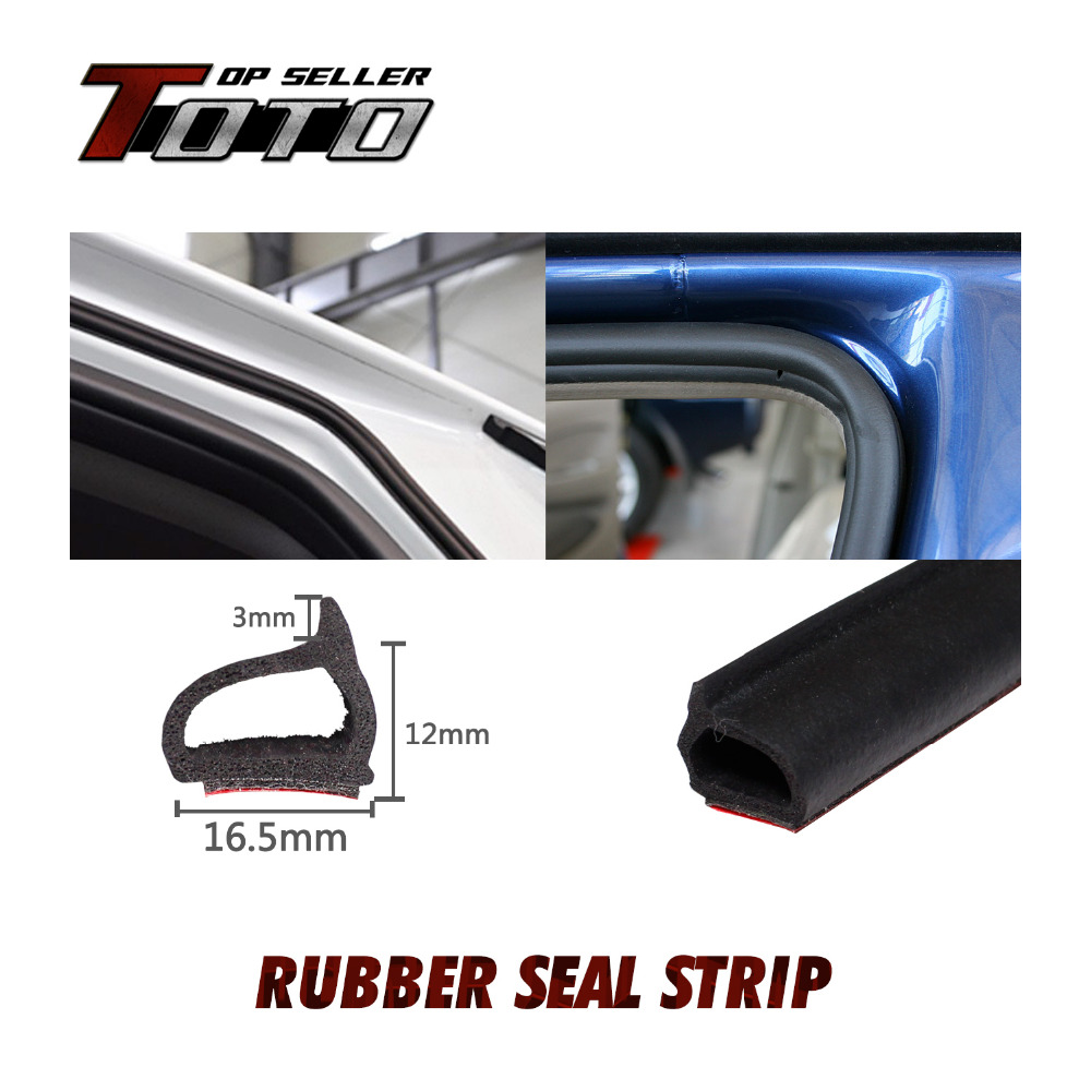 196 5m X D Shape Car Styling Interior Exterior Black Rubber Seal
