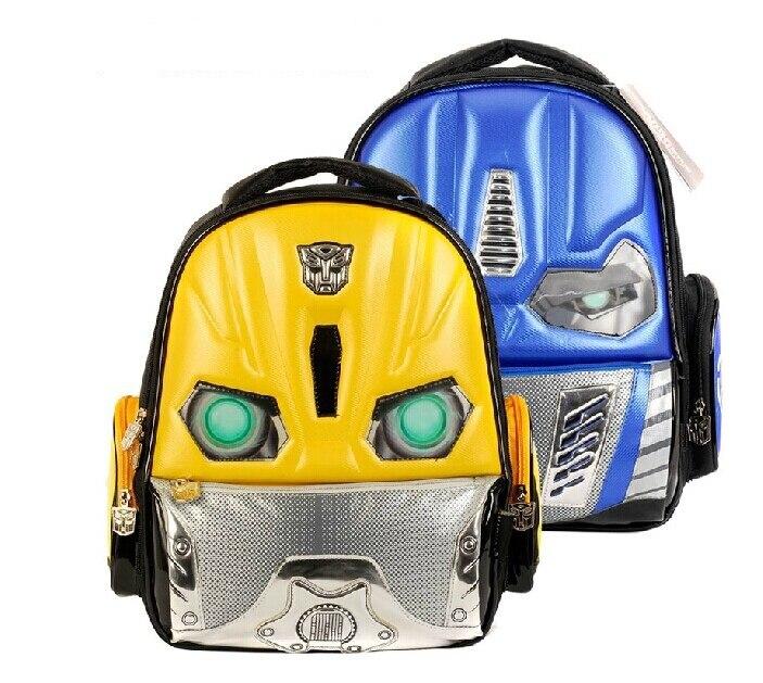 7 12 Children School Bags Backpacks Transformers Bumblebee Cartoon ...
