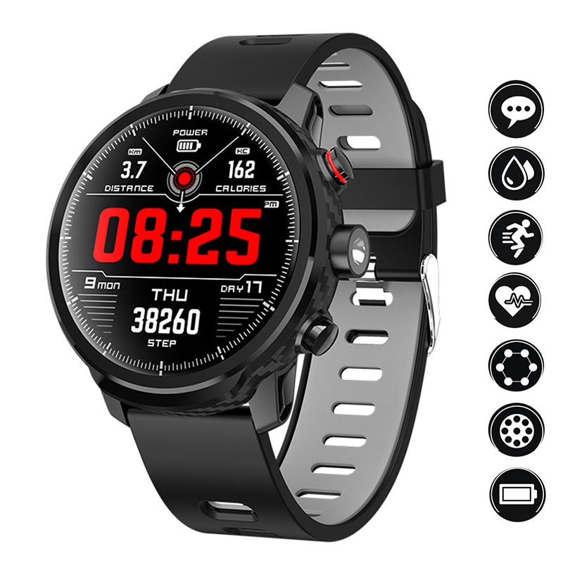 L5 Smart Watch Men IP68 Waterproof Multiple Sports Mode Heart Rate Weather Forecast Bluetooth Smartwatch Standby