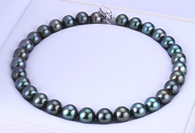 Selling Jewelry>>>noble women gift Jewelry Silver Clasp LONG 18 INCH 10-11mm natural Australian south seas black pearl necklace Selling Jewelry>>>noble women gift Jewelry Silver Clasp LONG 18 INCH 10-11mm natural Australian south seas black pearl necklace