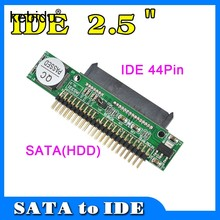Sata a IDE 2,5 Sata hembra a 2,5 pulgadas IDE macho 40 Pin Puerto 1.5Gbs soporte ATA 133 100 HDD CD DVD Serial Adapter convertidor(China)