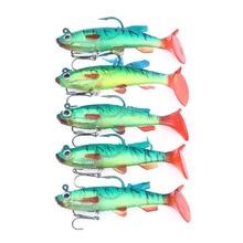 5pcs 8cm/14g Hard Bait Minnow Fishing lures Sea fishing Striped bass Trolling Artificial Crank bait Tackle