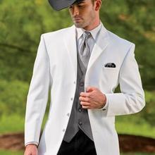 Venta al por mayor-nueva serie de vaqueros traje blanco novio boda traje  negro pantalones nuevo diseño clásico traje de hombre b. 878ecf4b5e7