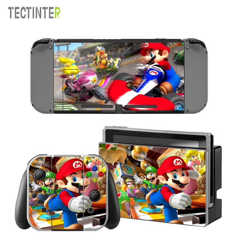 Mario Vinyl Skin Sticker for Switch Console Protector Cover Decal Vinyl Skin for Skins Stickers