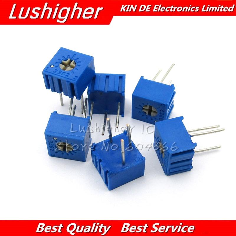 10PCS 3362P 20K Ohm 3362P-1-203LF 3362P-1-203 3362P-203 3362 P203 203 Trimpot Trimmer Potentiometer Variable Resistor