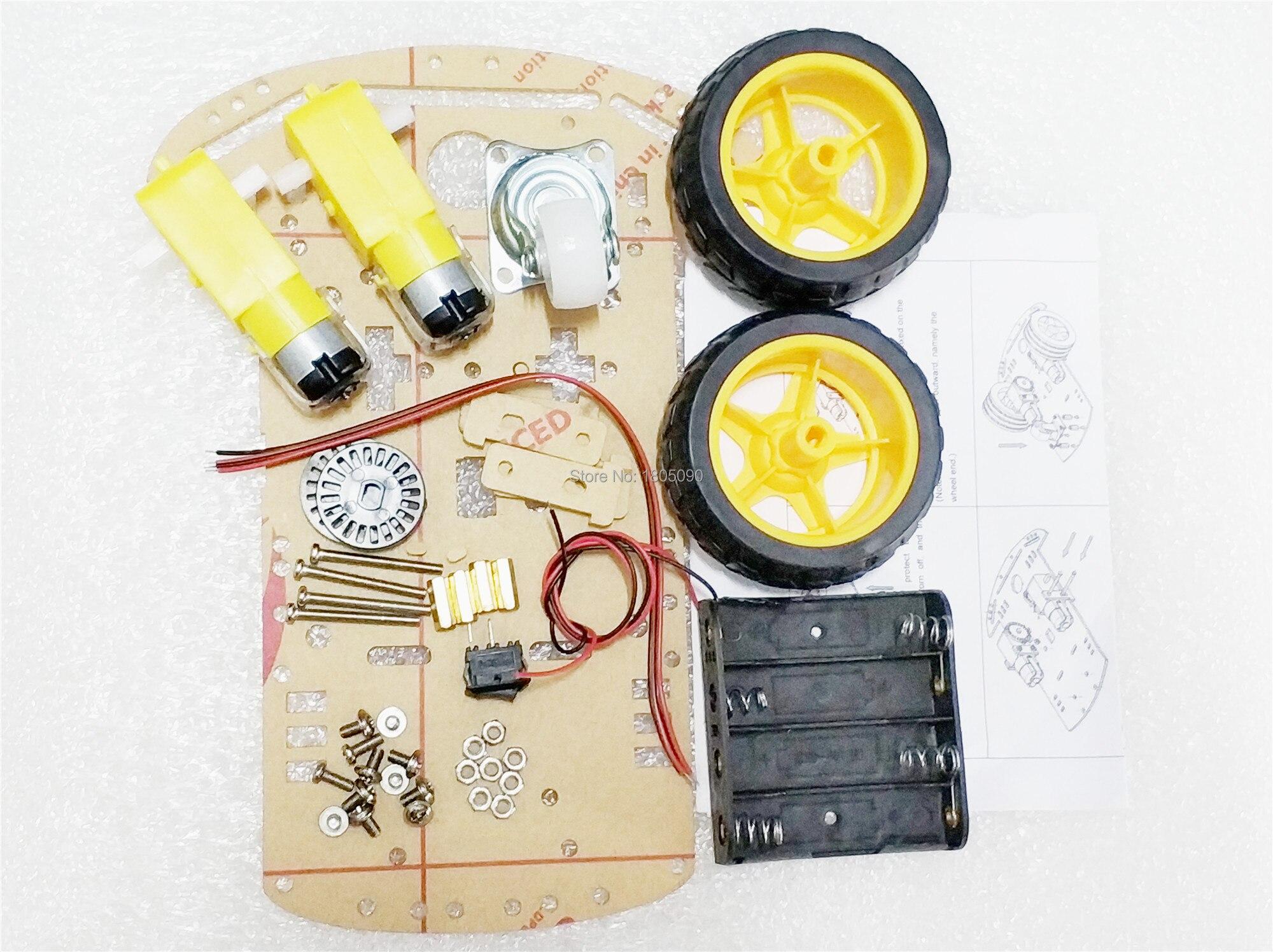 1/set DC3-6V TT motor 125 rpm 2WD smart robot car chassis kit / Smart car wheels for Arduino DIY Kit
