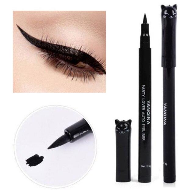 1 Pc NEW Cat Style Black Long-lasting Waterproof Eyeliner Liquid Eye Liner Pen Pencil Makeup Cosmetic Beauty Tool Wholesale 2