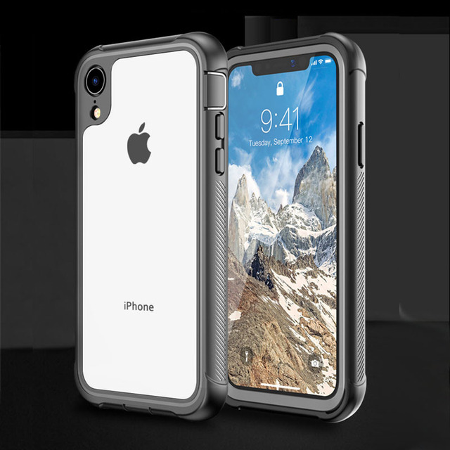 Shockproof Case for iPhone X XS XR Full Body Rugged Clear