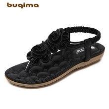 Buqima high quality summer sandals ladies large size