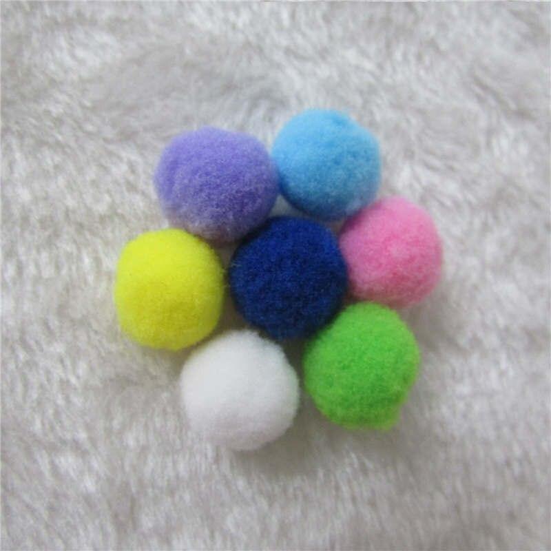 25mm 100pcs/lot Crafts Crafts Round Shaped Pompom Mixed Color Soft Fluffy Pom Pom for kids DIY Decorative accessories