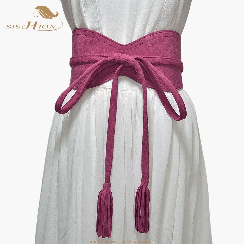 SISHION Fashion Wide Waist Belt Corset Belts For Ladies QY0248 Black Brown Beige Wide Waistband Bow Women Dress Cummerbunds