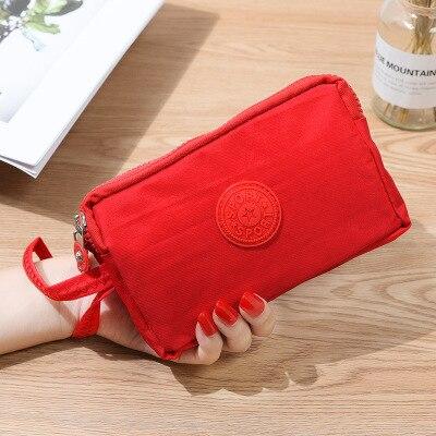 Женский кошелек, женский холщовый клатч, держатель для карт, Длинный кошелек, кошелек, высокое качество, вечерняя сумочка - Цвет: Красный