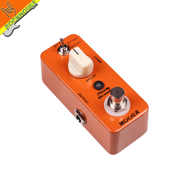 MOOER Ninety Orange Vintage Phaser Guitar Pedal Analog Phaser Guitar Effects Pedal Warm Deep Rich Phasing Tone Free Shipping mooer ninety orange phaser guitar effect pedal micro analog effects true bypass with free connector and footswitch topper