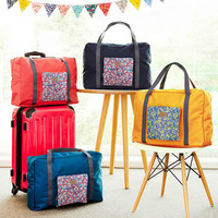 Foldable Waterproof Large Nylon Travel Camping Cycling Luggage Suitcase Organizer Storage Container Tote Bags Folding
