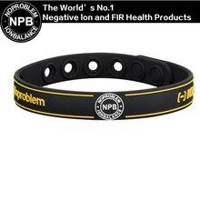 Noproblem P033 mode santé puissance sport charme antifatigue mignon silicone unisexe bio bande étanche bracelet