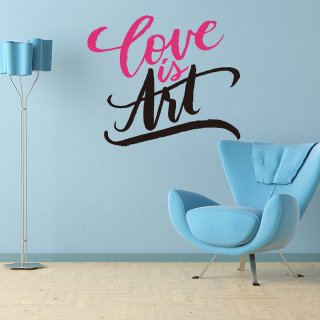 Aliexpresscom Buy Love Is The Art Quote Wall Sticker Living - Wall decals inspirational