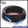 300 M de Interior Cable de Bajada FTTH Fibra Óptica Patch Cord SC SC SX SM SC-SC 300 Metros 1 Core Cable de Caída de Cable de Conexión