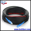 300M Indoor FTTH Fiber Optic Drop Cable Patch Cord SC to SC SX SM SC-SC 300 Meters 1Core Drop Cable Patch Cord