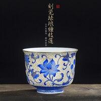 Jingdezhen проволочный эмалированный чайный набор кунг фу чайная чашка подарки для семьи и друзей кухонная офисная техника